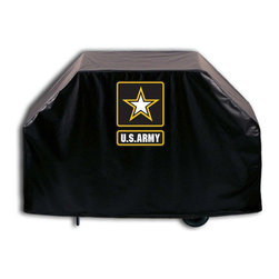 """Holland Bar Stool - Holland Bar Stool GC-Army U.S. Army Grill Cover - GC-Army U.S. Army Grill Cover belongs to Military Collection by Holland Bar Stool This U.S. Army grill cover by HBS is hand-made in the USA; using the finest commercial grade vinyl and utilizing a step-by-step screen print process to give you the most detailed logo possible. UV resistant inks are used to ensure exeptional durablilty to direct sun exposure. This product is Officially Licensed, so you can show your pride while protecting your grill from the elements of nature. Keep your grill protected and support your team with the help of Covers by HBS!"""" Grill Cover (1)"""