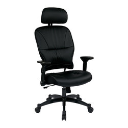 Office Star - Office Star Eco Leather Seat and Back Managers Chair With Headrest - SPACE Seating Eco Leather Seat and Back Managers Chair with Headrest What's included: Office Chair (1).
