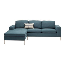Blu Dot The Standard Left-Hand Sectional Sofa - This sectional sofa is a great solution for small living rooms and family room. With sleek legs and a chaise piece, it's a creates a cushy gathering spot.