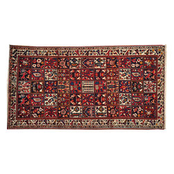 Old Persian Bakhtiari Rug, Garden Design 5X10 Hand Knotted 100% Wool Rug SH13539 - Hand Knotted Persian Rugs From Iran are know to be the highest quality rugs from around the world.  The weavers from Iran are also known to be the most skilled.  There's many different persian designs and these designs are derived from the city that they're woven in.
