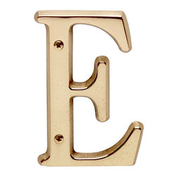 "Renovators Supply - House Numbers Bright Solid Brass 4"" House Letter E - Made of solid brass, these polished die cast letters are made to withstand the elements. Measuring 4 in. high, they are easily seen from the curb. They will update your home's exterior!"
