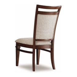 Hooker Furniture - Abbott Place Upholstered Back Side Chair - Se - Set of 2. Traditional style. Upholstered seat. Four tack in floor glides. Made from hardwood solids and cherry veneers. Rich and warm cherry finish. 19.25 in. W x 25.5 in. D x 42 in. H. Assembly InstructionsAbbott Place takes a fresh spin on traditional styling for a look that blends the best of classic American influences with updated design. Offering a broad piece assortment for every room in your home. Concave shaping on the case pieces creates energy and movement. Tapered legs offer a crisp, smart design of good taste for style flavors ranging from new American mix to casual transitional.