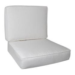 Trijaya Living - Sunbrella Outdoor Universal Patio Furniture Club Chair Cushions, Natural - Sunbrella Outdoor Universal Patio Furniture Club Chair Cushions