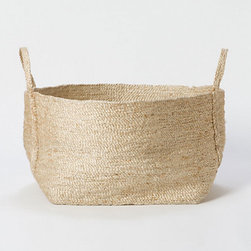 Jute Utility Basket - I love the soft texture of this pliable jute basket. It's both rustic and refined at the same time.