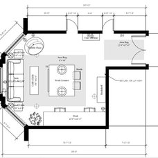 Transitional Floor Plan by Emily Griffin Design