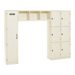 Modular Family Locker Entryway System - Rustic lockers ensure that there's a place for everyone's belongings when you walk inside.