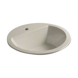 KOHLER - KOHLER K-2714-1-G9 Bryant Round Self-Rimming Lavatory - KOHLER K-2714-1-G9 Bryant Round Self-Rimming Lavatory with Single-Hole Faucet Drilling in Sandbar
