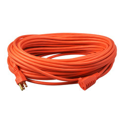 COLEMAN CABLE - 100' SJTW Orange Extension Cord - Put the power where you need it with this orange extension cord. The 100-foot cord is bright orange,making it highly visible and less likely to be tripped over,and uses water-resistant connectors that meet OSHA's requirements for outdoor use.