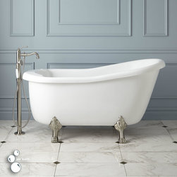Pearson Acrylic Clawfoot Air Tub - Slip into the Pearson Acrylic Air Tub and relax as you're surrounded by massaging air bubbles. A lovely slipper design and regal lion paw feet make this luxurious freestanding tub a definite classic.