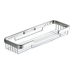 Gedy - Wire Double Soap Holder - Contemporary style wall mounted wire double soap holder. Wall soap dish made out of cromall with a polished chrome finish. Wall mounts are made out of thermoplastic resins in white, green, blue, red, chrome, black, orange, or fuchsia. Bathroom double soap