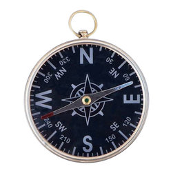 "Handcrafted Model Ships - Admiral's Brass Black Faced Compass 4"" - Small Brass Compass - Hampton Nautical is proud to present this classically styled admiral's compass. Handcrafted from durable and stylish solid brass, this compass will stand the test of time and always point true. With a legendary design, which has been used by sailors for centuries, this sleek compass makes the perfect gift for the sailor or nautical enthusiast in your life."