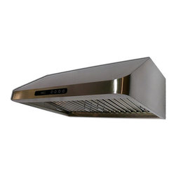 Cavaliere - Cavaliere-Euro 36-inch Under-cabinet Range Hood - These four-speed under-cabinet range hoods are perfect for clearing the air above your stove. Made entirely of stainless steel, this hood is durable and built to last. This range hood will not only be functional but also look great in your kitchen.