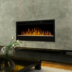 "Synergy Linear Wall Mount Electric Fireplace - Dimensions: 50"" W x 19"" H x 7"" D"