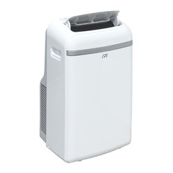 Sunpentown - 12,000 BTU Portable Air Conditioner with Heater - Enjoy a comfortable year-round environment with this 12,000btu cooling and 11,000btu heating unit. Four operational modes: Cooling, Heating, Dehumidifying and Fan.