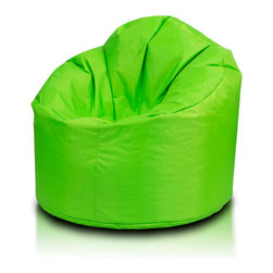 Turbo BeanBags - Beanbag Star, Neon Green, Filled Bag - Star Beanbag is a highly comfortable chair, one of the newest products from Turbo BeanBags. It surprises by its form, which fits like a second skin to the body shape of the person sitting creating a stable support for your back and shoulders in the form of rounded armrests.