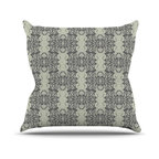 "Kess InHouse - Mydeas ""Illusion Damask Silver"" Gray Throw Pillow (18"" x 18"") - Rest among the art you love. Transform your hang out room into a hip gallery, that's also comfortable. With this pillow you can create an environment that reflects your unique style. It's amazing what a throw pillow can do to complete a room. (Kess InHouse is not responsible for pillow fighting that may occur as the result of creative stimulation)."