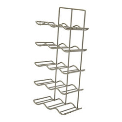 """Hafele America Co. - 15 Bottle Side Panel Mount Wine Rack - Store wine bottles in an attractive and convenient place with this 15 Bottle Side Panel Mount Wine Rack It features steel construction and 15 spots for wine bottles and screw mounts to the side panel of a cabinet  Size: 10 1/4"""" Width x 7 1/4"""" Depth x 24 2/16"""" Height Color: champagne"""