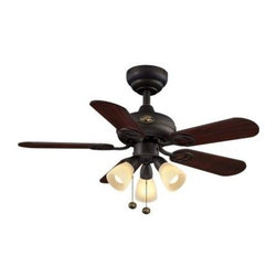 Hampton Bay - Indoor Ceiling Fans and Light: Hampton Bay San Marino 36 in. Oil-Rubbed Bronze C - Shop for Lighting & Fans at The Home Depot. Add a touch of style to your home's decor with the Hampton Bay San Marino 36 in. Oil-Rubbed Bronze Ceiling Fan. The fan features 5 reversible blades in rosewood and a walnut finish and a light kit with 3-bulbs and frosted glass shades and offers a low-profile design for mounting in rooms with low ceilings.