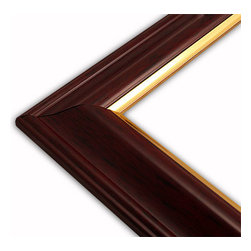 The Frame Guys - Wide Traditional Mahogany with Gold Lip Picture Frame-Solid Wood, 8.5x11 - *Wide Traditional Mahogany with Gold Lip Picture Frame-Solid Wood, 8.5x11