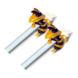Baby Fanatic - NCAA Georgia Tech Yellow Jacket Curtain Finials Rod Set - FEATURES: