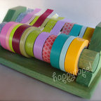8inch Multi-Roll Tape Dispenser - Happy tape makes me happy in every way. The possibilities are endless. This colorful tape is great for labeling file folders and color coordinating. However, my favorite use of this tape is creating a colorful little gallery wall with photos that are waiting to be framed using only your photos and this pretty tape.