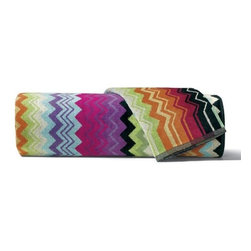 Missoni Home - Missoni Home | Giacomo Magenta Bath and Hand Towel 5 Piece Set - Design by Rosita Missoni.