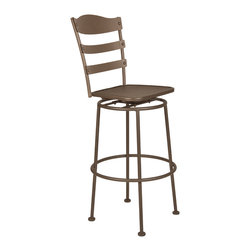 Bistro Chalet Armless Swivel Bar Stool - Available in counter stool option
