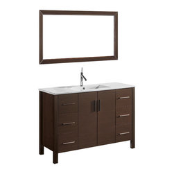 Adornus - Adornus TRENTO-48-WAL-C Walnut Vanity - Free standing all wood vanity in walnut veneer finish.