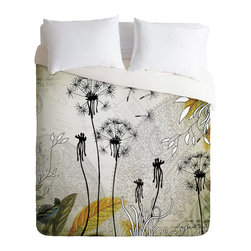 DENY Designs - Iveta Abolina Little Dandelion Duvet Cover - Turn your basic, boring down comforter into the super stylish focal point of your bedroom. Our Luxe Duvet is made from a heavy-weight luxurious woven polyester with a 50% cotton/50% polyester cream bottom. It also includes a hidden zipper with interior corner ties to secure your comforter. it's comfy, fade-resistant, and custom printed for each and every customer.