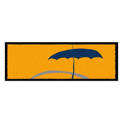 Home Infatuation - Umbrella Outdoor Runner Rug - This indoor/outdoor runner rug is derived from the imaginative series of original art work created by artist David Milliken. Elements from the paintings are extracted to create whimsical, humorous and abstract decorative solutions for both indoors and outside.