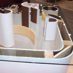 Various Curve products - This is a photo of samples of our Curve-Corners for Drywall product set up at the Remodeling show in Chicago.
