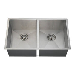 PolarisSinks - Polaris PD2233 90 Degree Stainless Steel Sink - Stainless Steel is the most popular choice for today's kitchens due to its clean look and durability. The beautiful brushed satin finish helps to hide small scratches that may occur over the lifetime of the sink. Our Stainless Steel sinks are made from high quality 16 gauge steel, which is 25% thicker than 18 gauge. Most models are made of one piece construction that ensures the sturdiest kitchen sink you will find. Our sinks are made from 304 grade stainless steel that contains 18% chromium and 8-10% nickel and are guaranteed not to rust. Each sink is fully insulated and has a sound dampening pad. Our stainless steel sinks are backed by a Limited lifetime warranty. Each sink comes with a cardboard cutout template and mounting hardware.