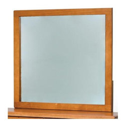 Chelsea Home - Hand Finished Mirror - Rustic style. Three step process to compliment natural wood grain. Mirror thickness: 1 in.. Constructed for strength and durability. Warranty: One year. Made from solid pine wood. Honey finish. Made in Brazil. No assembly required. 37 in. W x 41 in. H (37.4 lbs.)