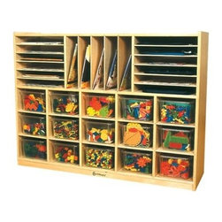 A+ Childsupply Art Station and File Organizer - About A+ Child Supply, Inc.For over 10 years, A+ ChildSupply has been supplying high quality products for use in schools, daycares and homes. Their design team has developed an extensive series of preschool furniture with safety, durability and beauty as top priorities. Every product built in their factory undergoes an extensive battery of tests and is compliant with all laws and regulations as set forth by the CPSC (Consumer Products Safety Commission) and is also compliant with European standards of EN-71. Each product is designed with protective corners and edges, moisture- and stain-resistant finishes, durable construction methods, environmentally friendly wood, renewable resources, innovation and superior quality and value.
