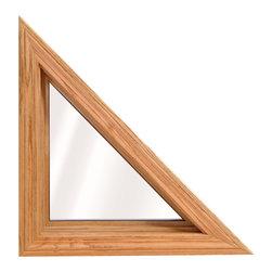 Geometric & Specialty Windows - Interior view of Wellington Triangle Window; shown in Lite Oak wood grain.