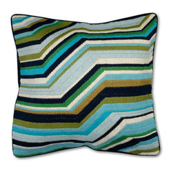 Jonathan Adler Bargello Zig Zag - The first time I spied these pillows was actually on Houzz, and I just had to track them down. This dynamic color combination will bring some electricity to your home.