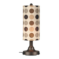 "Patio Living Concepts - Patio Living Concepts Coronado 30 Inch Table Lamp w/ 2 Inch Bronze Body & Mojito - 30 Inch Table Lamp w/ 2 Inch Bronze Body & Mojito Coffee Bean Sunbrella Shade Fabric belongs to Coronado Collection by Patio Living Concepts Simplistic contemporary styling highlights this weatherproof lamp. 2"" bronze resin body tube, heavy weighted base and durable acrylic bulb enclosure allows the use of a standard 100 watt bulb. 16 ft. weatherproof cord and plug. Two level dimming switch. Mojito coffee bean outdoor shade fabric. Model # 47287 Lamp (1)"