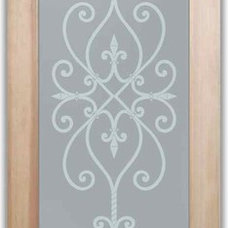 Mediterranean Interior Doors by Sans Soucie Art Glass