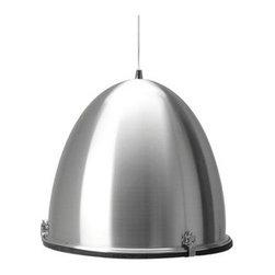 Leitmotiv Cone Industrial Pendant Light in Grey - Leitmotiv Cone Industrial Pendant Light in Grey