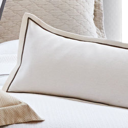 Rio Satin Stitch Oblong Pillow - White - Modern and tailored but also timeless and classic, the Rio Satin Stitch Oblong Pillow seamlessly blends with many styles of bedding to create a layered, cozy look that invites one to sleep in and go to bed early. The Rio features an elegant satin stitch and flange and is available in several soothing neutrals and fun colors.