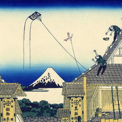 Keep Calm Collection - A Sketch Of The Mitsui Shop by Katsushika Hokusai, art print - Katsushika Hokusai (September 23, 1760 - May 10, 1849) was a Japanese artist, ukiyo-e painter and printmaker of the Edo period. He was influenced by such painters as Sesshu, and other styles of Chinese painting.