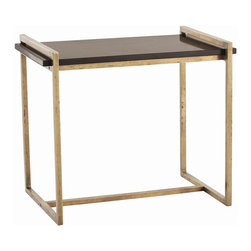 "Arteriors - Arteriors Home - Hollis Vintage Brass  Side Table - 6683 - Arteriors Home - Hollis Vintage Brass Side Table - 6683 Features: Hollis Collection Side TableStarts with a distressed vintage brass finish on the square tubing and ends with a slab of black marble resting on the frameThe narrow silhouette works well when space is tight Some Assembly Required. Dimensions: W 26"" x D 16"" x H 22"""