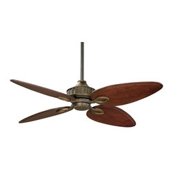 "Fanimation - Fanimation Bayhill 56"" Traditional Standard Ceiling Fan X-ZV052BL - Old world charm and sophistication come to life in this beautiful collection by Lauren Brooks. With its warm Venetian bronze finish and custom wood blades this fan will accentuate any room in your house."