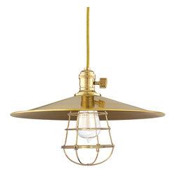 Hudson Valley Lighting - Hudson Valley Lighting 8001-AGB-MM1-WG Heirloom Aged Brass Pendant - Hudson Valley Lighting 8001-AGB-MM1-WG Heirloom Aged Brass Pendant
