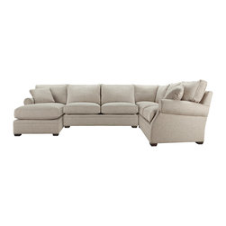 Landsbury Theater 3 Piece Sectional - With 31 pieces to choose from, the Landsbury Theatre 3 Piece Sectional encompasses the style and comfort you want—and the versatility you need to fit your living space. Landsbury Theater wraps around your living space as comfortably as its deep, cozy cushions seem to wrap around your body.  Built by woodworking artisans in North Carolina, the cool, unadorned palette of this sectional will fit into any décor, becoming a canvas for endless color and textural accents.