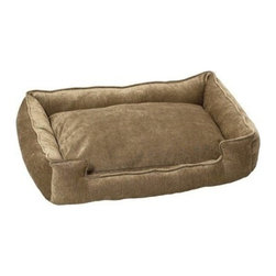Jax & Bones - Jax & Bones Double Rub Microvelvet Lounge Bed Earth X-Large - Jax and Bones double rub microvelvet Lounge bed is six times stronger than any bed made from normal cotton. This means that t is longer lasting, more comfortable, and extremely appealing. The bed is amazing for any type of dog and hides shredded hair well. Available in four sizes, you can choose from three amazing colors.    100% Machine Washable and Certified Eco-Friendly!