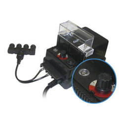 Alpine Corporation - 100 Watt Transformer with Photo Cell and Timer - Enhance the beauty of your water garden using this 100 Watt Multi-Light Transformer with Photo Cell & Timer. It can be used in multiple pond lights or other garden applications that requires a transformer. It comes with a 4-light Quick Connect Cable and has both outdoor and indoor mounting capability. Once it gets dark, the photocell and timer will immediately activate. The timer can be set for auto, 4, 6 or 8 hours along with the photocell.