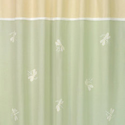 """Sweet Jojo Designs - Green Dragonfly Dreams Shower Curtain - The Green Dragonfly Dreams Shower Curtain is a great way to make over your child's bathroom. Add a designer's touch and some fun colors to your bathroom with this lovely Shower Curtain.  The Shower Curtain measures 72"""" x 72"""" and is machine washable. Shower hooks and liner are not included."""