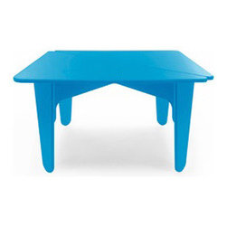 NotNeutral - BBO2 Kids Table - This chair is marketed as a kid's table but I love the shape and colors so much that I think they're great as a colorful coffee table on the porch or your back deck.