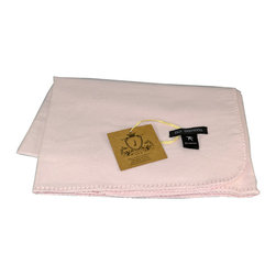 "Pur by Pur Cashmere - Signature Blend Throw Baby Pink 36""x36"" - Bamboo baby blanket with stitching on edges. 100%  baby bamboo.  Dry clean only. Inner mongolia."